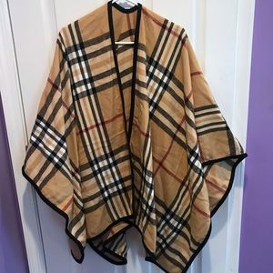 Sweaters - Burberry-inspired Shaw/Poncho/Cardigan